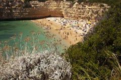 скала пляжа algarve Стоковое Фото