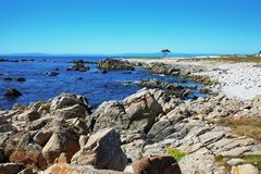 Скалистая береговая линия западного побережья Стоковые Изображения