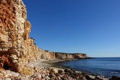 Скалистая береговая линия clifftop стоковое фото