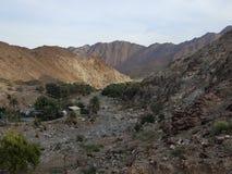 Скалистая гора в пустыне стоковые изображения rf