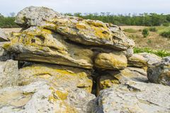 Скалистая местность в покинутых местах Стоковые Фотографии RF