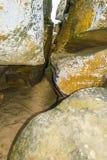 Скалистая местность в покинутых местах Стоковое Фото