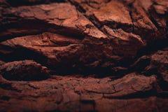 Скалистая поверхность планеты повреждает с видимыми долинами Стоковое Изображение