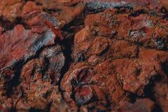 Скалистая поверхность планеты повреждает Стоковая Фотография RF