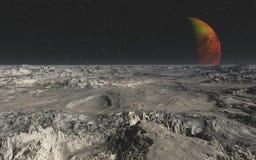Скалистая пустыня от планеты чужеземца стоковые фотографии rf
