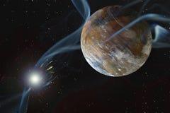 Скалистая сухая планета чужеземца Стоковые Фотографии RF