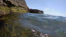 Скалистое побережье Каспийского моря видеоматериал