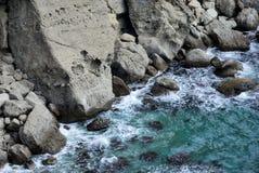 Скалистое побережье шторма моря Стоковое Фото