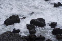 Скалистое побережье Batanes, Филиппин Стоковые Изображения