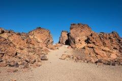 Скалистый ландшафт в национальном парке Teide Это естественное scenary было использовано для столкновения титанов, Тенерифе fim,  стоковое изображение rf