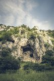 Скалистый массив в ущельях реки Platano стоковое фото