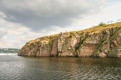 Скалистый правый берег реки Dnieper Стоковое Фото