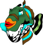 скалозуб guineafowl рыб Стоковое Фото