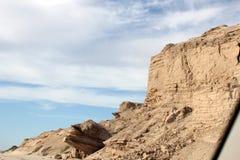 Скалы вдоль бечевника моря Cortez около El Golfo de Santa Clara, Соноры, Мексики стоковые изображения rf