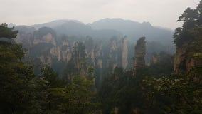 Скалы в национальном парке Zhangjiajie стоковое изображение rf