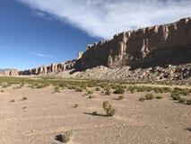 Скалы в Altiplano Боливия, Южная Америка Стоковые Изображения