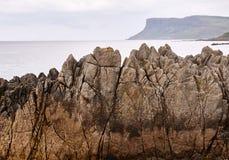 Скалы в Ballycastle, антриме Стоковое Изображение