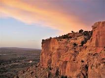 Скалы захода солнца плато Колорадо около Farmington стоковые фотографии rf