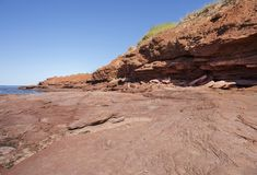 Скалы красного песчаника вверх закрывают Стоковые Фото