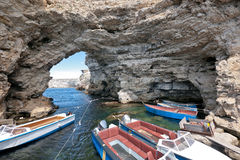 скалы крымские стоковое фото