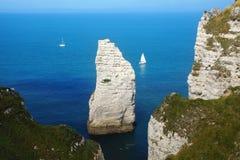Скалы мелка на d'Albatre Коута. Etretat Стоковое Изображение