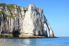 Скалы мелка на d'Albatre Коута. Etretat Стоковая Фотография RF