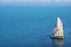 Скалы мелка на d'Albatre Коута. Etretat Стоковые Изображения RF