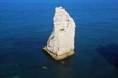 Скалы мелка на d'Albatre Коута. Etretat Стоковые Фотографии RF