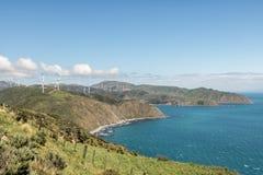 Скалы моря ветротурбин Стоковая Фотография RF