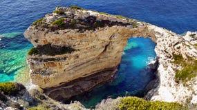 Скалы моря, накидка, побережье Средиземного моря скалистое Стоковое Изображение RF