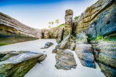 Скалы моря Windansea стоковая фотография