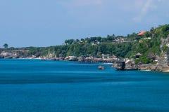 Скалы пляжа Balangan, Бали Индонезия Стоковая Фотография