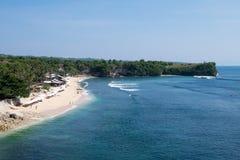 Скалы пляжа Balangan, Бали Индонезия Стоковые Фотографии RF