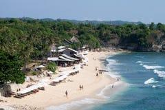 Скалы пляжа Balangan, Бали Индонезия Стоковые Изображения RF