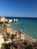 скалы цветастая Португалия algarve Стоковая Фотография RF