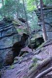 Скалы шифера в лесе стоковая фотография rf
