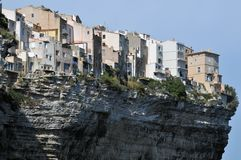 Скалы Bonifacio в Корсике стоковое фото