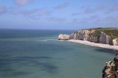 Скалы Etretat в Франции Стоковая Фотография RF
