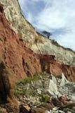 Скалы Hunstanton на побережье Норфолка стоковое фото rf