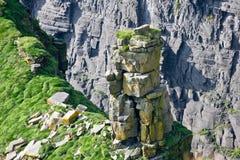 Скалы Moher, фото горной породы, графство Клара детали, Ирландия Стоковое Изображение RF