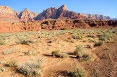 скалы vermilion Стоковое Фото