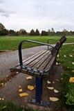 Скамейка в парке осенью Стоковые Изображения