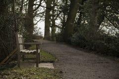 Скамейка в парке страны Стоковые Фото