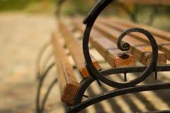 Скамейка в парке Стоковая Фотография