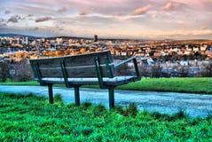 Скамейка в парке Meersbrook Стоковые Фото