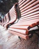Скамейки в парке Стоковые Фото