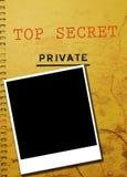 скандал сыщицкого фото приватный Стоковое фото RF