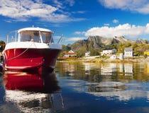 Скандинавия, замечательный нордический ландшафт, Lofoten стоковые фото