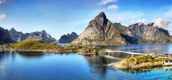 Скандинавия, замечательный нордический ландшафт, Lofoten стоковая фотография