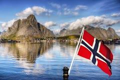 Скандинавия, замечательный нордический ландшафт, Lofoten стоковое изображение